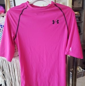 Under Armour pink work out t-shirt